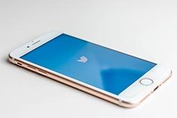 Logo Twitter sur un téléphone